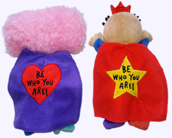 10 in. Be Who You Are Plush Dolls Back View
