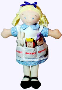 14 in. Alice in woderland Pocket Doll