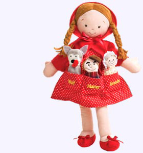 14 in. Little Red Riding Hood Cloth Doll
