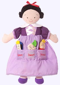 14 in. Snow White in lavender Dress with Pocket Dolls