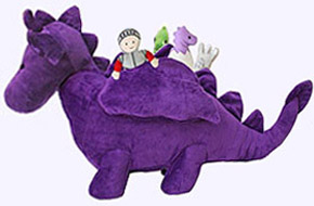 24 in. Purple Dragon Activity Plush Toy