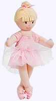 9 in. Blonde Ballerina Finger Puppet