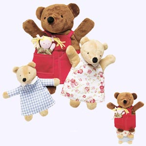 11 in. Goldilocks and the Three Bears Nesting Puppets