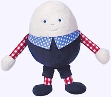 10 in. Humpty Dumpty Egg Chime Soft Toy