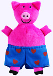 6 in. Plush Pig from Todd Parr Animals in Underwear Board Book
