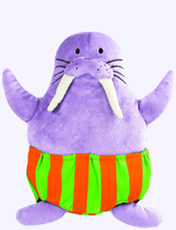 11 in. Plush Walrus from Todd Parr Animals in Underwear Board Book