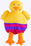 6 in. Plush Chick from Todd Parr Animals in Underwear Board Book