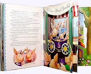 Inside pages of Olivia Princess for a Day Pop-up Book