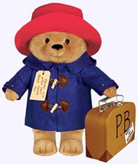 16 in. Large Paddington Bear Plush Storybook Character