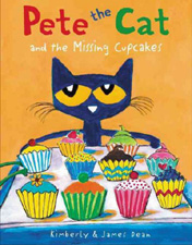 Pete the Cat and the Missing Cupcakes Hardcover Picture Book