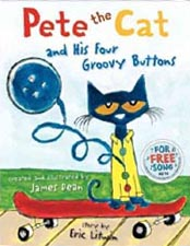 Pete the Cat and His Four Groovy Buttons Hardcover Picture Book
