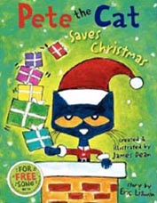 Pete the Cat Saves Christmas Hardcover Picture Book