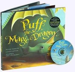 Puff the Magic Dragon Hardcover Picture Book with CD