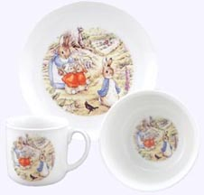 Peter Rabbit in Garden Porcelain Breakfast Set