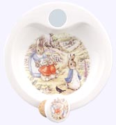 Peter Rabbit in Garden Porcelain Warming Dish