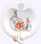 Peter Rabbit and Family Porcelain Warming Dish