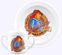 Paddington Bear Porcelain 7 in. Bowl and two handed Cup