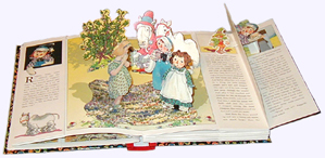Raggedy Ann & Andy and the Camel with the Wrinkled Knees Opened Display of Pop-up Book