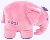8 in. Rose Elephant Plush Doll