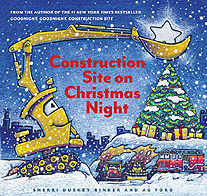 Construction Site on Christmas Night Hardcover Picture Book