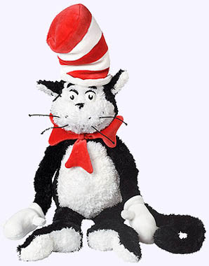 24 in. Cat in the Hat Plush Doll