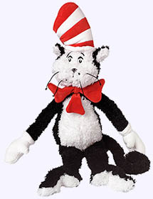 18 in. Cat in the Hat Plush Doll