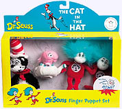 The Cat in the Hat Finger Puppet Set In Box