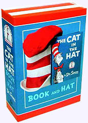 Cat in the Hat Book with wearable Felt Hat