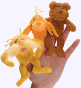 Lorax Finger Puppet Set, The Lorax and and two Forest Critters.