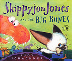 Skippyjon Jones and the Big Bones Hardcover Picture Book with CD.
