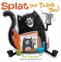 Splat Says Thank You Book