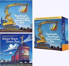 Board Book Set: Goodnight Construction Site & Steam Train, Dream Train
