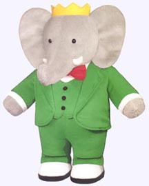 13 in. Plush Babar the Elephant