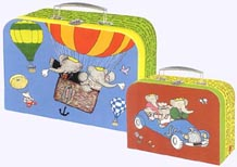 Paperboard Suitcase Set with Babar story designs