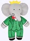Babar the Elephant Plush Doll