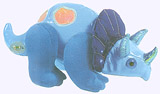 7 in. Triceratops Pocket Puppet