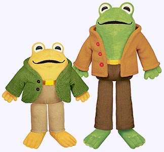 frog and toad plush dolls and storybooks by arnold lobel