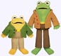 Frog and Toad Plush Dolls
