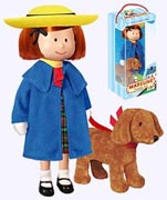 8 in. Poseable Vinyl Madeline Doll with Genvieve Dog