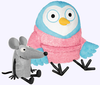 8 in. Goodnight Owl Soft Toy and 4 in. Noise (mouse) Soft Toy