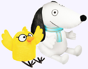8 in. Number One Sam Soft Toy and 4 in. Chick Soft Toy